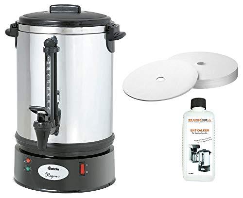 Bartscher Rundfilter Kaffeemaschine Regina Plus 90T + 100 Rundfilter + Flüssig-Entkalker