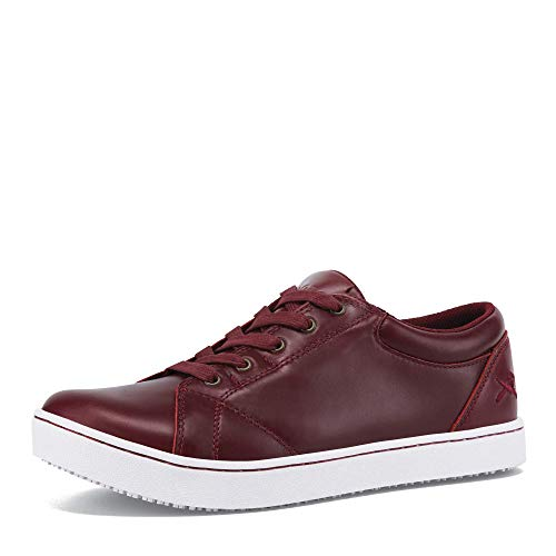 MOZO Women's Mavi Food Service Shoe, Red, 8 B US