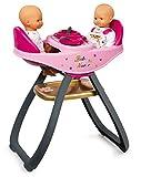 Smoby - 220315 - Baby Nurse - Chaise Haute JumEaux - Transformable en Bascule - + 4 Accessoires Inclus