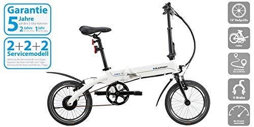 Blaupunkt Carla 190 Elektrische fiets, 16 inch, opvouwbare pedelec, 15,5 kg, 250 watt