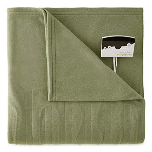 Biddeford 1000-9052106-633 Comfort Knit Fleece Electric Heated Blanket Twin Sage Green