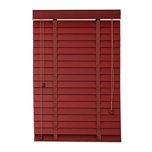 ZEMIN Jalousien Bambusrollo Sichtschutz Fenster Raffrollos Heben Wohnzimmer Brandschutz Holz, Größe Anpassbar (Color : A, Size : 130x250cm)