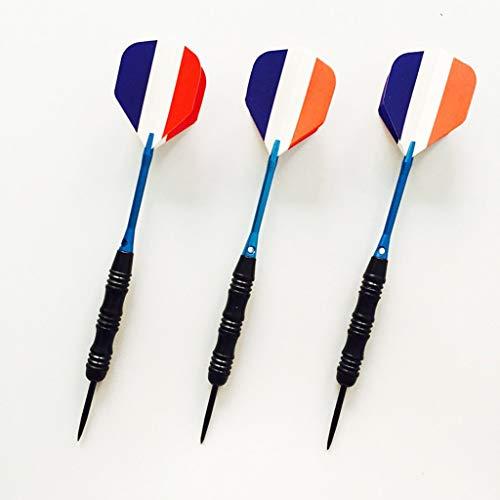 TWDYC 3pcs / 23g / 16cm Kit de níquel Marcado de dartillo del Eje de Aluminio Consejos de Acero Inoxidable Conjunto de Juguetes de Dardos con Ejes de plástico Extra Forma de quilla (Color : B)