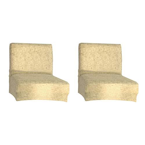 joyMerit 2 Stücke Stretch Stuhlabdeckung Hussen Für Niedrige Kurze Rückenstuhl Barhocker Stuhl