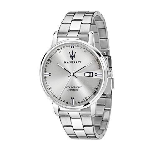 Orologio da uomo, Collezione Eleganza Maserati, movimento al quarzo, tempo e data, in acciaio - R8853130001