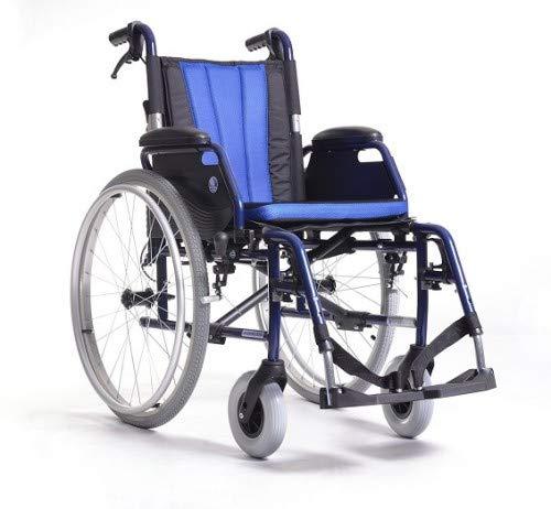 Zusammenfaltbarer Rollstuhl aus Stahl Modell VERMEIREN JAZZ SB69 | Hinterräder gepumpt |mit Bremsen | Sitzbreite: 46cm | Höhe: 50 cm | Maximale Belastbarkeit: 130 kg