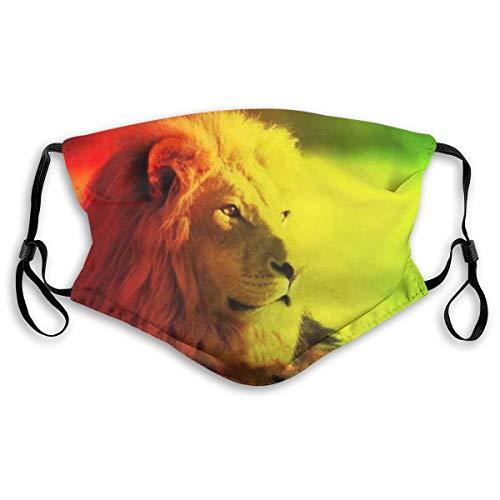 YTUTRfb Rasta Lion King Masker voor volwassenen en kinderen - Herbruikbaar Ademend Masker Met 2 Stks Vervangbaar Filter Voor Bescherming