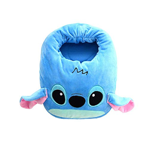 Y-PLAND Cartoon Electric Heating Shoes, Male and Female Household Crystal Super Velvet Slippers, Cartoon USB Foot Warmer, Removable and Washable Foot Warmer-Stitch_332518.5cm