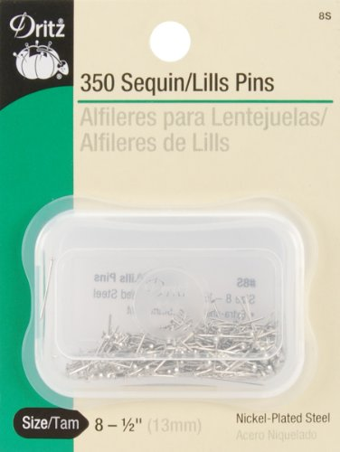 Dritz 8S Sequin/Lills Pins, 1/2-Inch (350-Count),Gray Silver