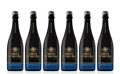 Abbaye D'Aulne - Cerveza de Abadia Belga Cuvée Royale Triple Brune - Pack de 6 Botellas de 75 cl