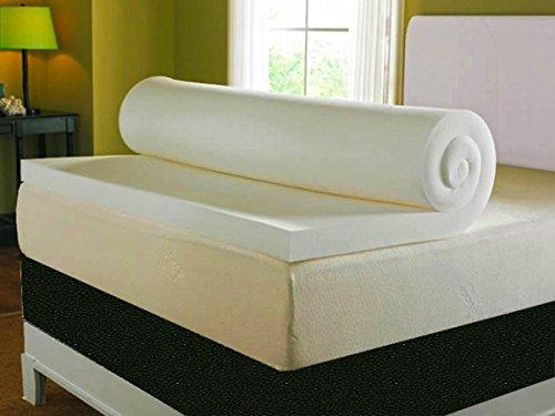 Visco Terapia Profundo Doble Protector de colchón con Funda Lavable, Espuma de Memoria, Color Crema, 3-Inch