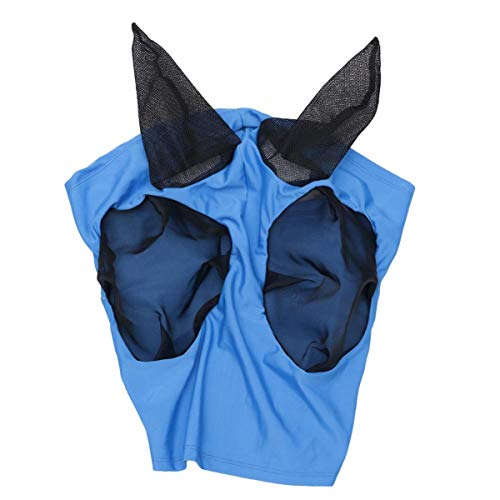 Balacoo Máscara de Mosca del Caballo Mascarada con Orejas Paseo Tranquilo Máscaras de Mosca para Montar a Caballo Máscara de Mosca Máscara de Mosquito Máscara de Malla de Cabeza de Caballo
