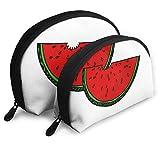 Portable Shell Makeup Storage Bags Cute Red Cartoon Watermelon Travel Waterproof Toiletry Organizer...