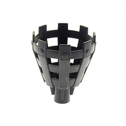 Bausteine gebraucht 1 x Lego Duplo Feuer Korb Halter schwarz Flammen Gitter Schale für Set Piraten Boot Ritter Burg 7880 4864 7846 7881 54068