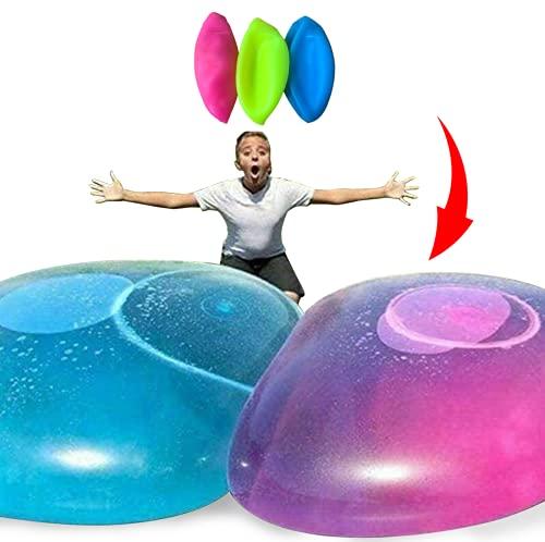 水風船 バブルボール 巨大水風船 水遊び 日本語説明書付き 3色セット ビーチボール バルーンボール (中サイズ)