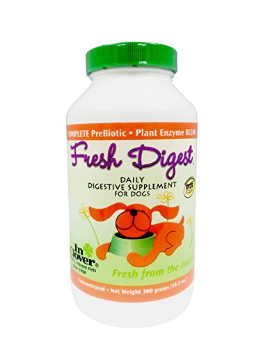 In Clover Fresh Digest Daily Digestive Aid and Immune Support Supplement for Dogs, All Natural Prebiotic and Enzyme Powder for Less Gas and Healthy Stools, Works Fast 300 gram (10.5 oz.)