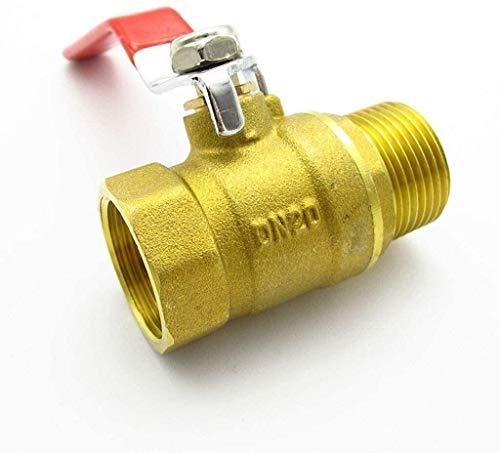 Accesorios roscados 1/4 '3/8' 1/2 '3/4' 1 'BSP Female a Hilo Macho Válvula de bola de mango larga, adaptador de conector de válvula de bola de cierre de bola de dos vías para aire de aceite de agua Co