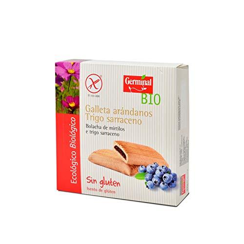 Galletas de trigo sarraceno con arándanos bio sin gluten - Germinal - 200g (caja 10 uds - total: 2kg)