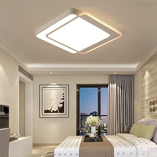 Chef Turk Moderno y elegante Luz de techo Sala de estar creativa Comedor Dormitorio Estudio Lámpara de techo Minimalismo Personalidad LED Acrílico Metal Cuadrado blanco Iluminación interior decorativa