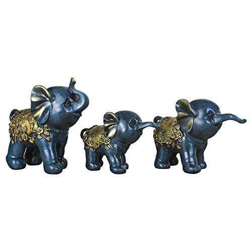 LUSU Decorativos Figuras Salon Candelabros De Jardin Exterior Miniatura Búsqueda De Elefantes...
