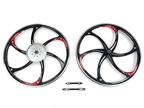 Aluminum Wheels with 44T Sprocket HY-22 (Black ) 80CC Gas Motorized Bicycle