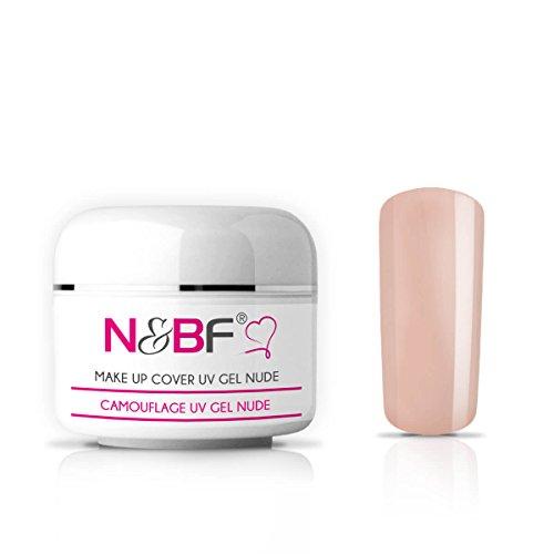 N&BF Make Up UV Gel 15 ml rose/rosa milchig | Camouflage Gel mittelviskos | Made in EU | Covergel für Babyboomer und French | Abdeck Gel rosa selbstglättend + säurefrei | Nagelgel deckend