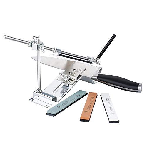 Afilador de cuchillo molinillo de cocina afilado afilar sistema con 4apto para todos los sistemas de afilar, como cuchillos de cocina, tijeras, sierras