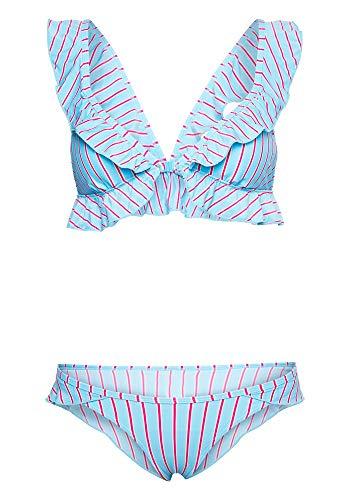 Chiemsee Woman Parte Superiore del Bikini, Blu Chiaro/Rosa, 38A-B EU Donna