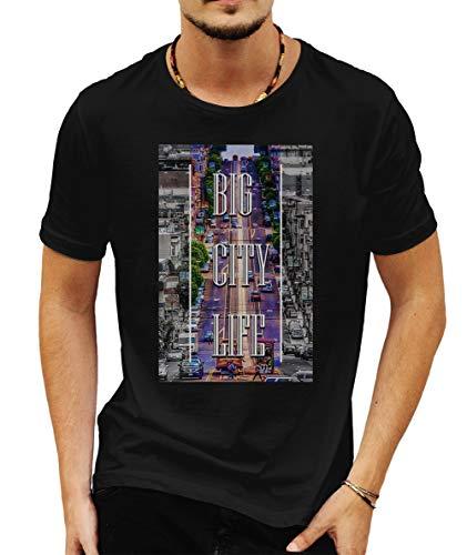 Wild Soul Tees Love San Francisco Big City Estados Unidos de América California - Camiseta para Hombre Negro Negro (L
