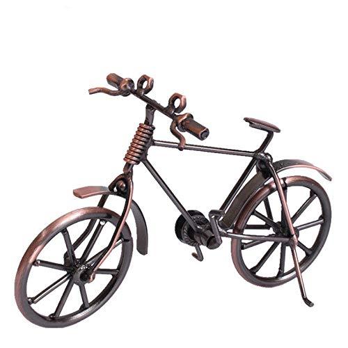 GLKHM Escultura Figuritas Decorativas Estatuas 17 Cm De Longitud Vintage Metal Vintage Modelo De Bicicleta Adornos De Bicicleta Decoración De Escritorio Decoración del Hogar