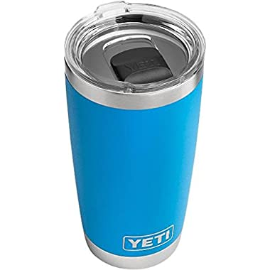 YETI Rambler 20 oz Stainless Steel Vacuum Insulated Tumbler w/ MagSlider Lid, Tahoe Blue