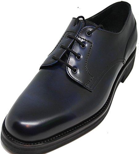 George´s Shoes.4472 .Zapato de Cordones Pala Lisa,Totalmente Hecho a Mano EN Inca Mallorca,Piel de Becerro de Primera Calidad,Color Azul Marino difuminado