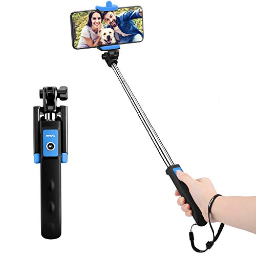 Bluetooth Selfie Stick, Mpow Extendable Monopod Clamp Phone Holder with...