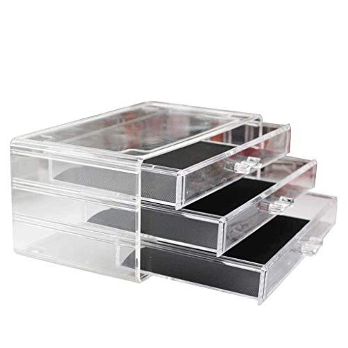 SHYPT Clear Cosmetic Storage Organizer - Organisieren Sie ganz einfach Kosmetik, Schmuck und Haarschmuck.Sieht elegant aus, wenn Sie auf Ihrem Waschtisch, Ihrer Badezimmer-Theke oder Ihrer Kommode sit
