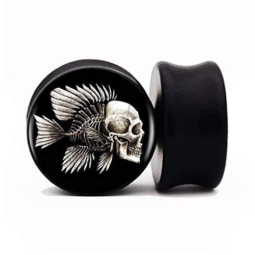 CHENGTAO 2pcs / Lot De Madera Pescado Y Cráneo del Oído Calibre Macho Y El Túnel De 8 Mm-25 Mm del Oído del Ensanchador del Ampliador De Una Silla De Mandril Perforado Durable (Metal Color : 16mm)