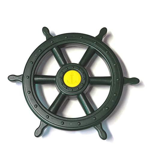 GK Piraten stuurwiel scheepsstuur voor speeltoren, groen