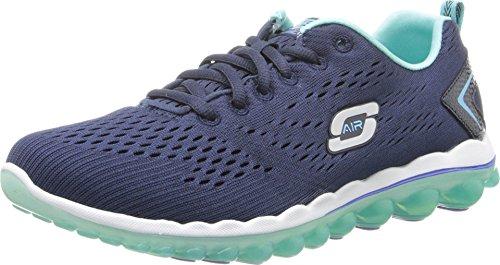 Skechers Sport Women's Skech Air Aim High Fashion Sneaker,Navy Mesh/Light Blue Trim,6 M US