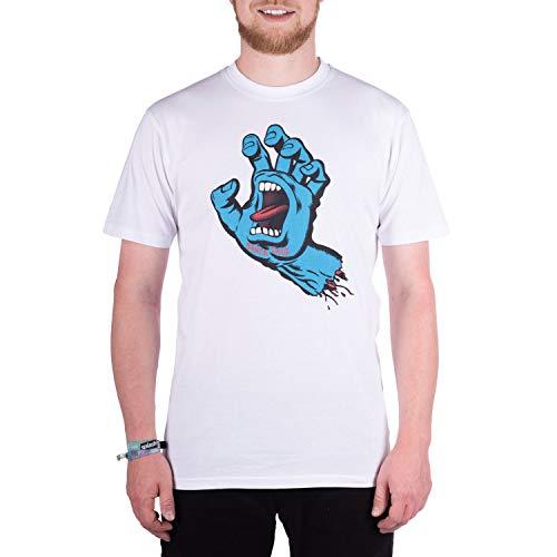 Santa Cruz T-shirt Screaming Hand, white, L, TSSCR