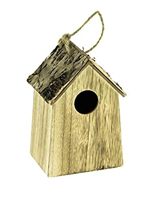 Lifetime Garden 15cm Wooden Bird House Nesting Box (Brown) by Lifetime Garden