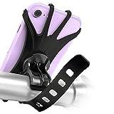 Soporte Movil Bici, 360° Rotación Soporte Movil Moto Bicicleta, Desmontable Anti Vibración Porta Telefono Motocicleta Montaña para 4-6,5', Compatible con iPhone / Samsung / Huawei (1 Pack)