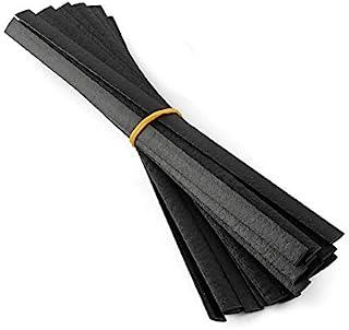 Jounjip Plastic Welding Rods for TPO TEO & PP Fuel Tank Bumper Kayak Repairs, Flat Ribbon - Black (20 pack)