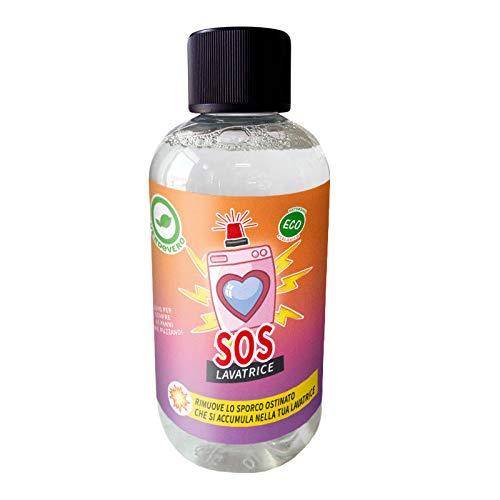 SOS LAVATRICE - Cura lavatrice 250ml – Elimina odori, sporco e calcare dalla lavatrice