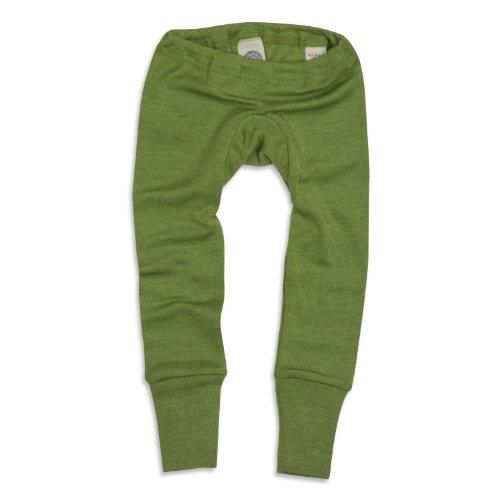 Cosilana–Baby lange Unterhose 70% Bio-Merinowolle, 30% Seide, Grün