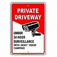 夜のビジョンカメラで24時間監視の下で壁の芸術装飾の私設車道