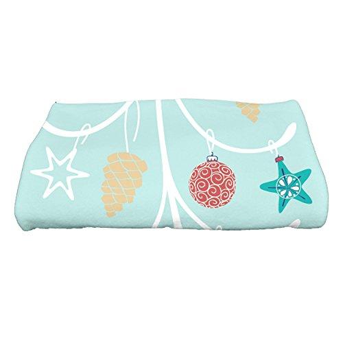 E por diseño Decorativo Vacaciones geométrica impresión Toalla de baño, Aqua, 28'X 58'