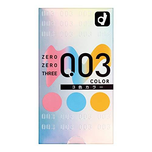 Okamoto 003 0.03mm latex 3 Color Assortment condom (Japan Import) 12 pcs by Okamoto