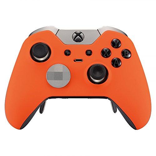 eXtremeRate Obere Hülle Schutzhülle Case Cover Oberschale Gehäuse Skin Schale für Xbox One Elite Controller(Orange)