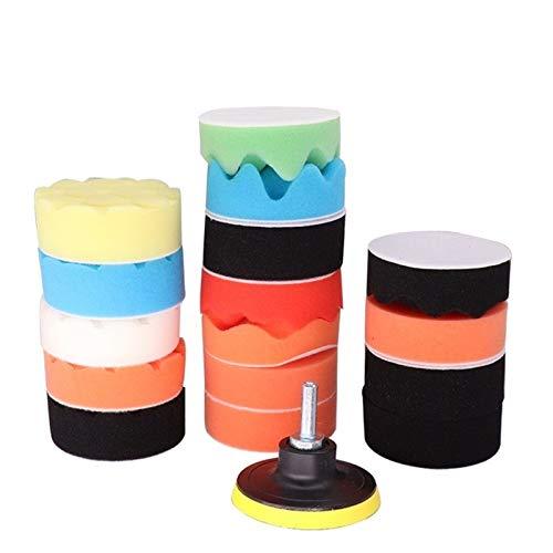 Shenyitool Hardwaretools Auto-Polierauflage Set 3-Zoll-Polierer Waxing-Auflage for Autopolitur Puffer Rad entfernt Kratzer Adapter Waxing Werkzeug Werkzeug (Color : 7pcs A Set)