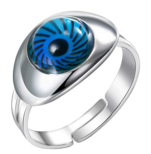 Acchen Mood Ring Eye Changing Color Emotion Feeling Finger Ring with Gift Box