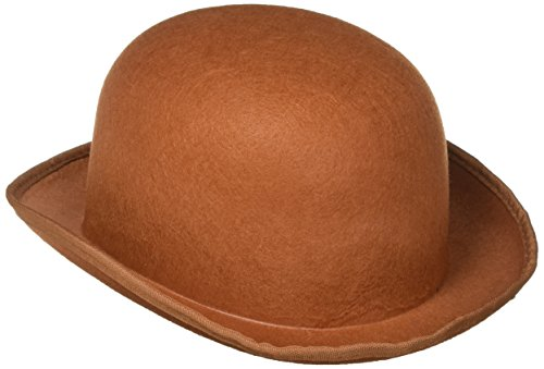FORUM Chapeau Melon Marron Steampunk - Taille Unique